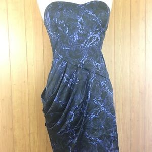 Bcb generation mini ink blue/ black dress size 6